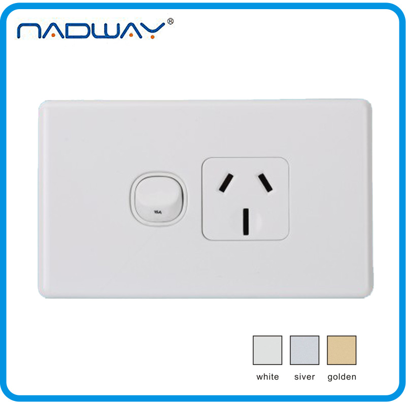GPOA2 SAA single point 15A 250V 1gang 1way switched socket