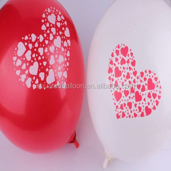 I love u 12 inch wedding valentine's day heart love latex balloons
