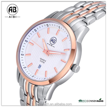 solid chain band 10 ATM stainless steel wrist watch men fashion