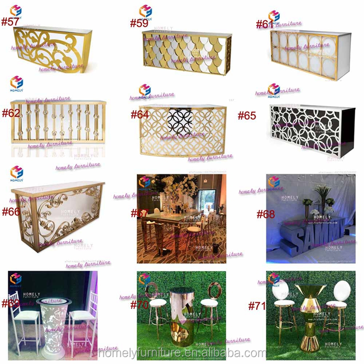 modern hotel bar banquet party event dining round retangular marble top crystal wedding gold stainless steel table with glass