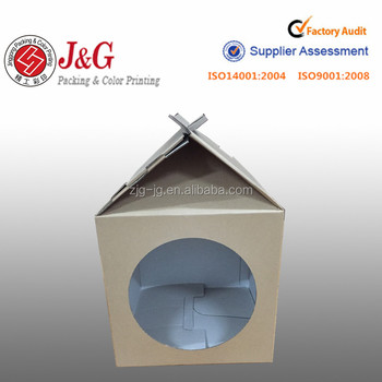 Convenient Paper Four Color Printed Paper milk Boxes Paper Package Box With Plastic Windows