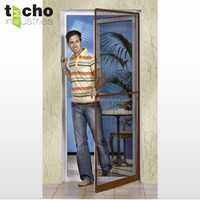 Frame mosquito net door with aluminium profile and fiberglass mesh