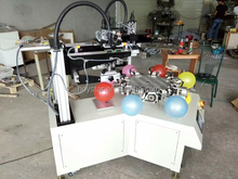 2 color automatic silk screen latex balloon printing machine