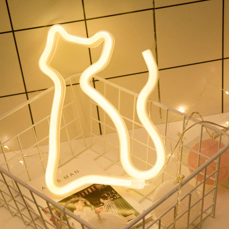 Instagram Hot Sale USB and Battery Powered Christmas Decoration Night Light Love Letter LED Neon <strong>Sign</strong>