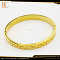 latest design fashion gold stainless steel 18k bangle men jewelry