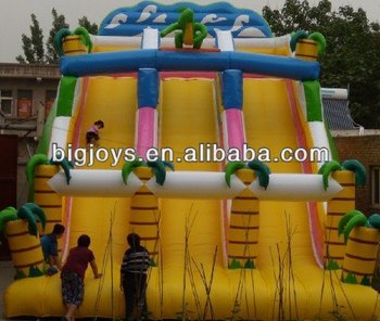 hot soft play slides for sale, inflatable dry slide for sale, giant inflatable slide