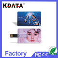Plastic Material Bulk 8GB Credit Card USB 2.0 Flash Drive for Music