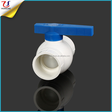 New Design Blue Handle India Hot Sell Plastic PVC Ball Valve DN20