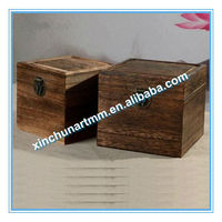 Antique Classic Wooden Packing Boxes With Hinge Manufacture