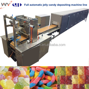 Factory full automatic gummy bear pectin carrageenan jelly candy depositing making and forming machine line