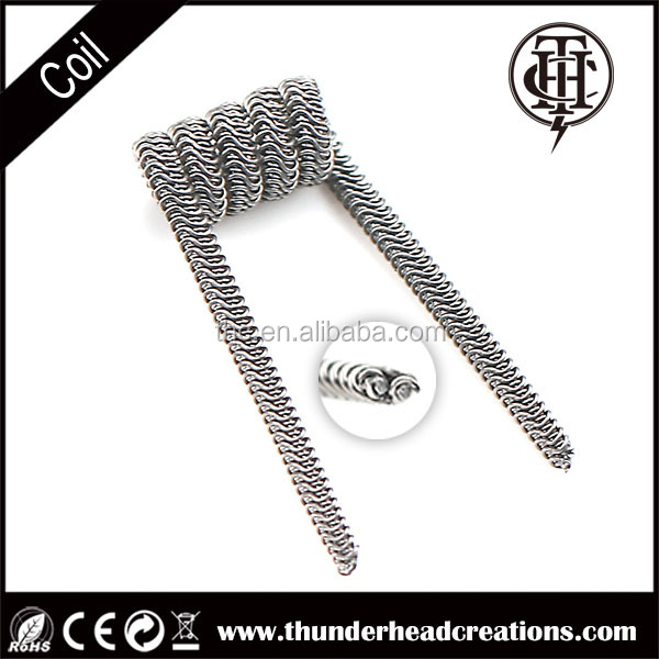 Alien fused clapton coil, Pre-wrapped Resistance Wire for Vapor,large cloud