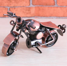 Tin Furnishing Articles Handmade Metal Motorcycle Model