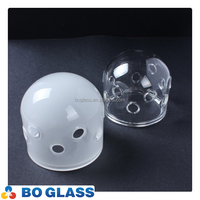 hot sale pyrex round glass light cover for flash light