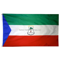 Fast delivery 100D polyester Equatorial Guinea hand held flag