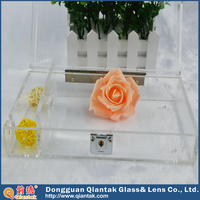Clear Decorative Acrylic Rectangle Storage Box With Lid
