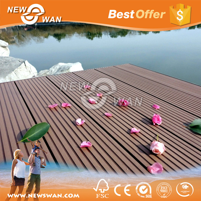 Hot sale wpc products / wood plastic composite house decking