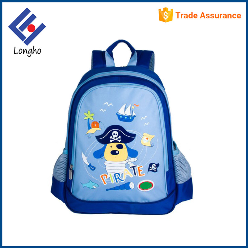 Global trade foam padded cute sky blue school bags pirate animal prints kids lovely dog school bag