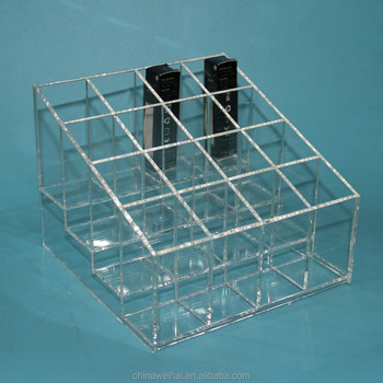 4Layers 16pcs Bottles Clear Acrylic Perfume Organizer