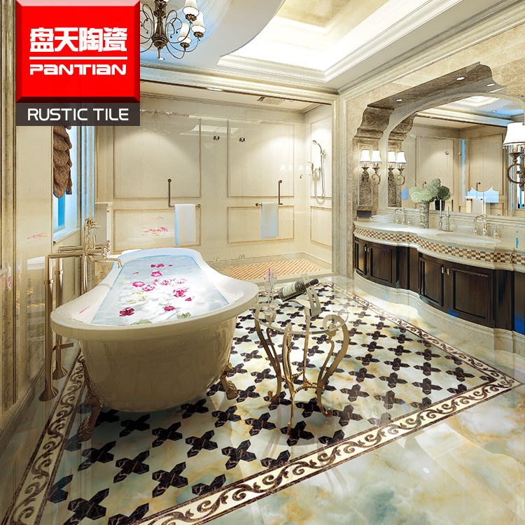 Super guangzhou high gloss glitter laminate flooring tiles and accessories microlite polished porcelain floor tile