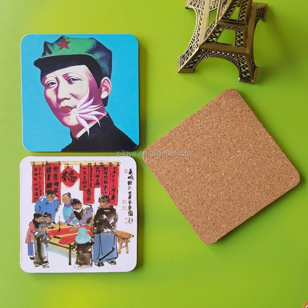 The best quality Chairman Mao souvenir mdf drink coaster