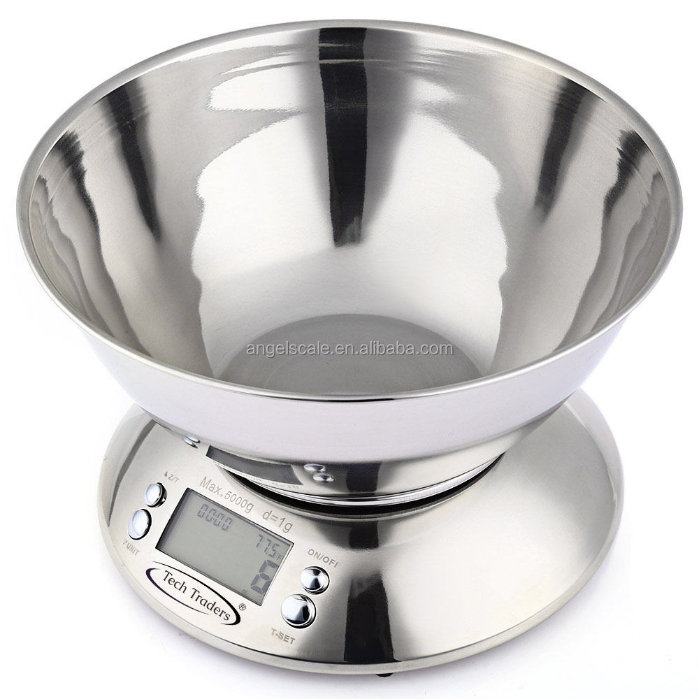 stainless steel digital multifunction kitchen and food kitchen weighing scale with timer