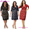 Plus Size African Fashion Designs Bandage Dress