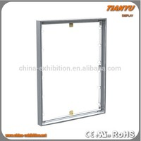 aluminium frameless led backlit light box fabric