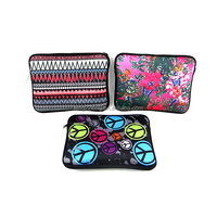 Fashion heat transfer printing neoprene laptop bag/silkprinting soft laptop pouch/SBR laptop bag