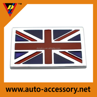 3d chrome UK flag decal stickers for car