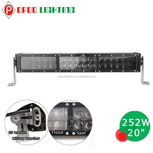 Top quality wholesale 20in 252w 4D led light bar for off road