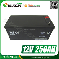 Bluesun solar power system deep cycle rechargable 24v lead acid battery