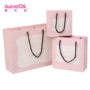 Different types of biodegradable china small gift paper bag rope handle