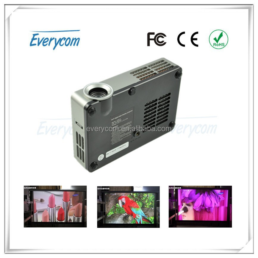 2014 Newest DLP Portable Pocket Handheld DLP HD 1280*800p Suppot Movies Projector for Entertainment, School& Home Theatre