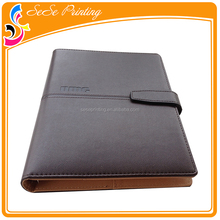 Leather Cover Executive Notebook With Book Closure And Hidden Spiral Bound