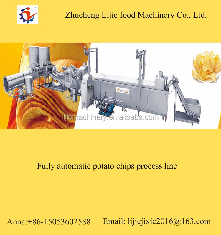 industrial potato chips processing machine potato chips production line company