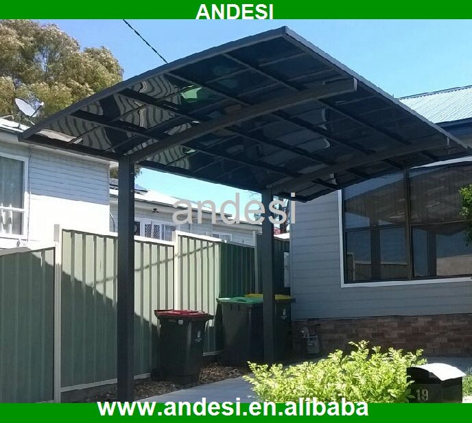 Polycarbonate solid roofing panel for pergola carport