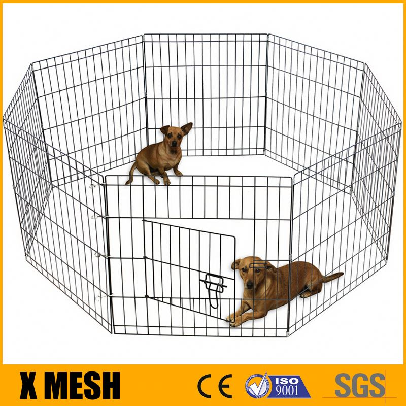 "24"" Tall Wire Fence Pet Dog Folding Exercise Yard 8 Panel Metal Play-Pen"