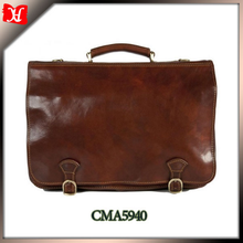 High Quality Genuine Leather Brown Portfolio Attache Case Portfolio for men Business Case Bag