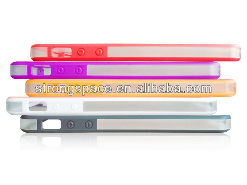 Fashion cover for iphone 5 clear case with TPU from China supplier