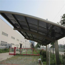metal frame driveway gate aluminum carport canopy with polycarbonate sheet roof
