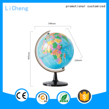 2016 Hot selling promotional globe type 12 inch new inflatable education geography globe with stand
