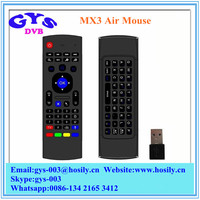 Multifunction 2.4GHz Air Mouse MX3 Mini Wireless Keyboard Remote Control With Wireless USB Receiver