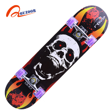 Best quality long duration time kid chinese maple skateboard decks maple skate long complete board for sale