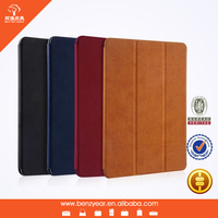 2015 new simple design leather tablet case for ipad