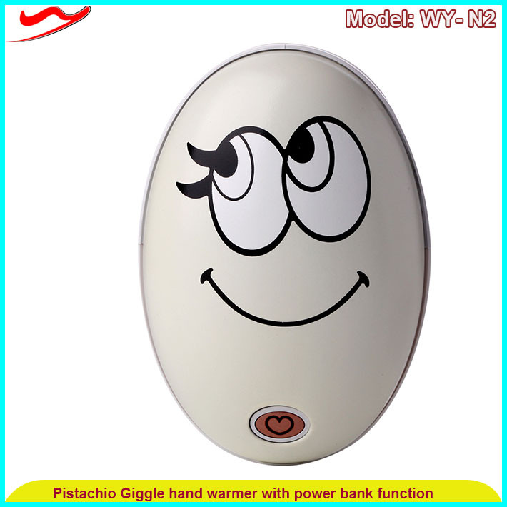 Pistachio hand warmer / Portable electric heating Mini electric heater Electric heating
