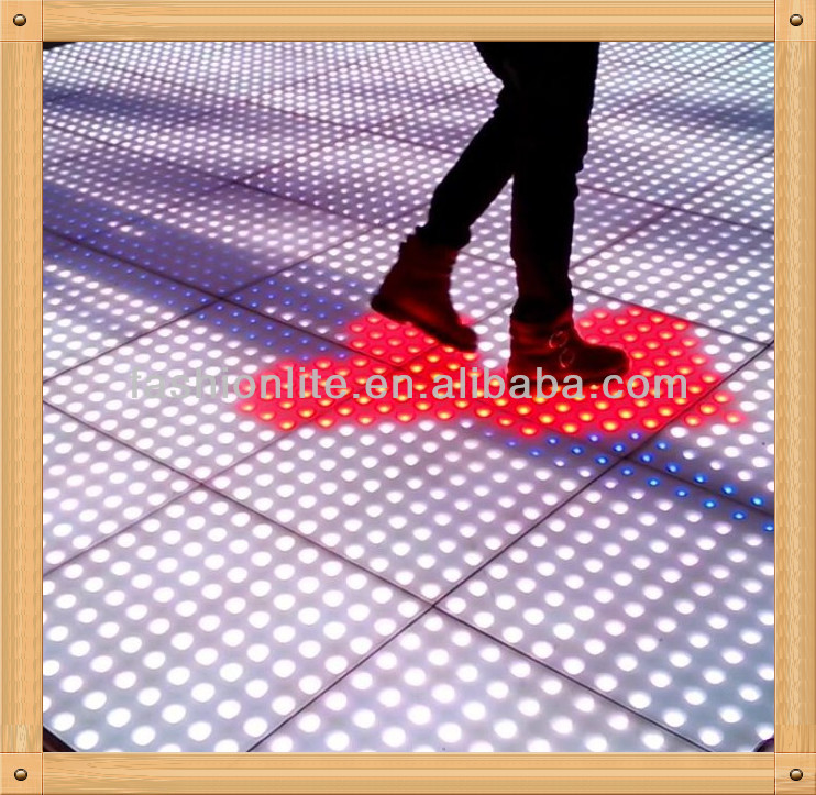 led interactive dance floor China lighting/led stage lighting dance floor/sensor dance floor LED