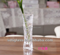 high white glass cheap wholesale round glass flower vases