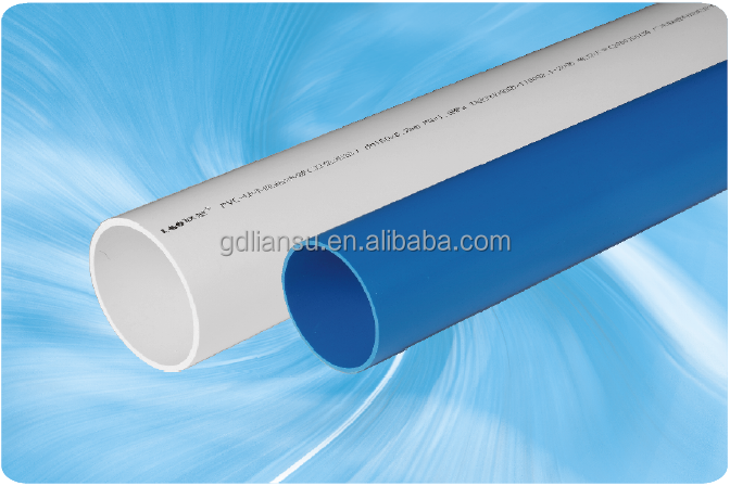 Blue plastic drinking water pipe and PVC drinking water tube