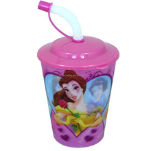 3D Lenticular Printing Kids Plastic Reusable Cup with Lid