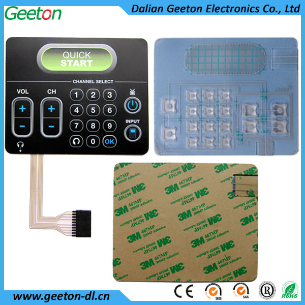 Polyester Integrated Circuits Membrane Keypads Electronic Membrane Switch
